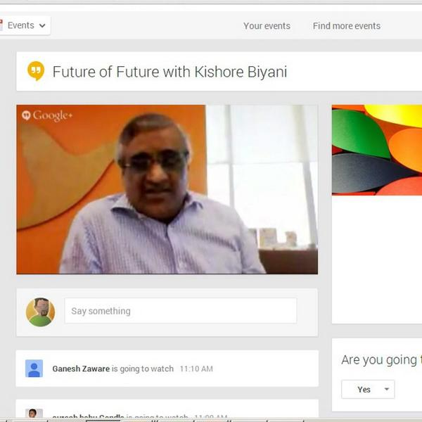 Can Future Group become a tech company rather than a retail company? Change starts with a company wide Google Hangout http://t.co/7aFxTNW2Bg