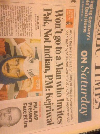 RT @iMac_too: Simple. Vote for Kejri. RT @bibekdebroy: Can someone explain what this headline in ET today means? http://t.co/vekqA8ztId