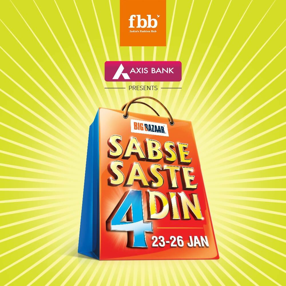 RT @fbb_india: The 'Sabse Saste 4 Din' sale with amazing offers and discounts is here. Are you ready? https://t.co/O6hrYbn2Ly