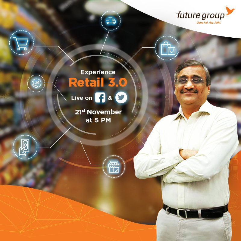 RT @fg_buzz: Know all about the new retail revolution 3.0 LIVE on 21st Nov,5pm. Stay tuned! https://t.co/BPAAw0I8Uz